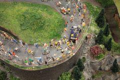 tour de france en miniature aus der Hubiperspektive