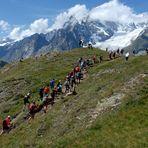 """Tour du Mont Blanc.......................passaggio dal """"Rifugio Bertone""""."""