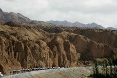 Tour of Qinghai Lake 2005 - Mondlandschaft