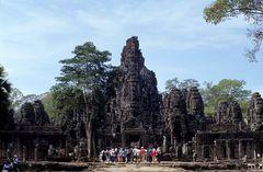Tourists in Bayon, Angkor
