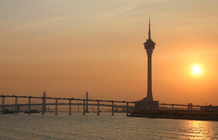 Tower bei Sonnenuntergang