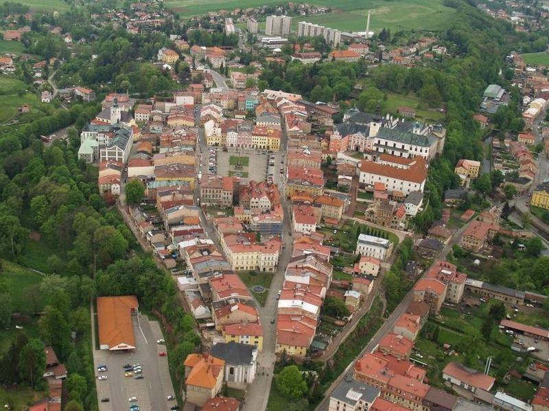 town Broumov-historical centre