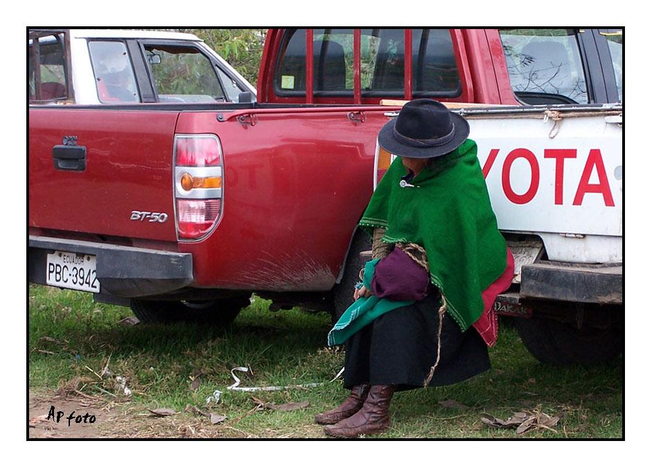Toyota und die Bäuerin