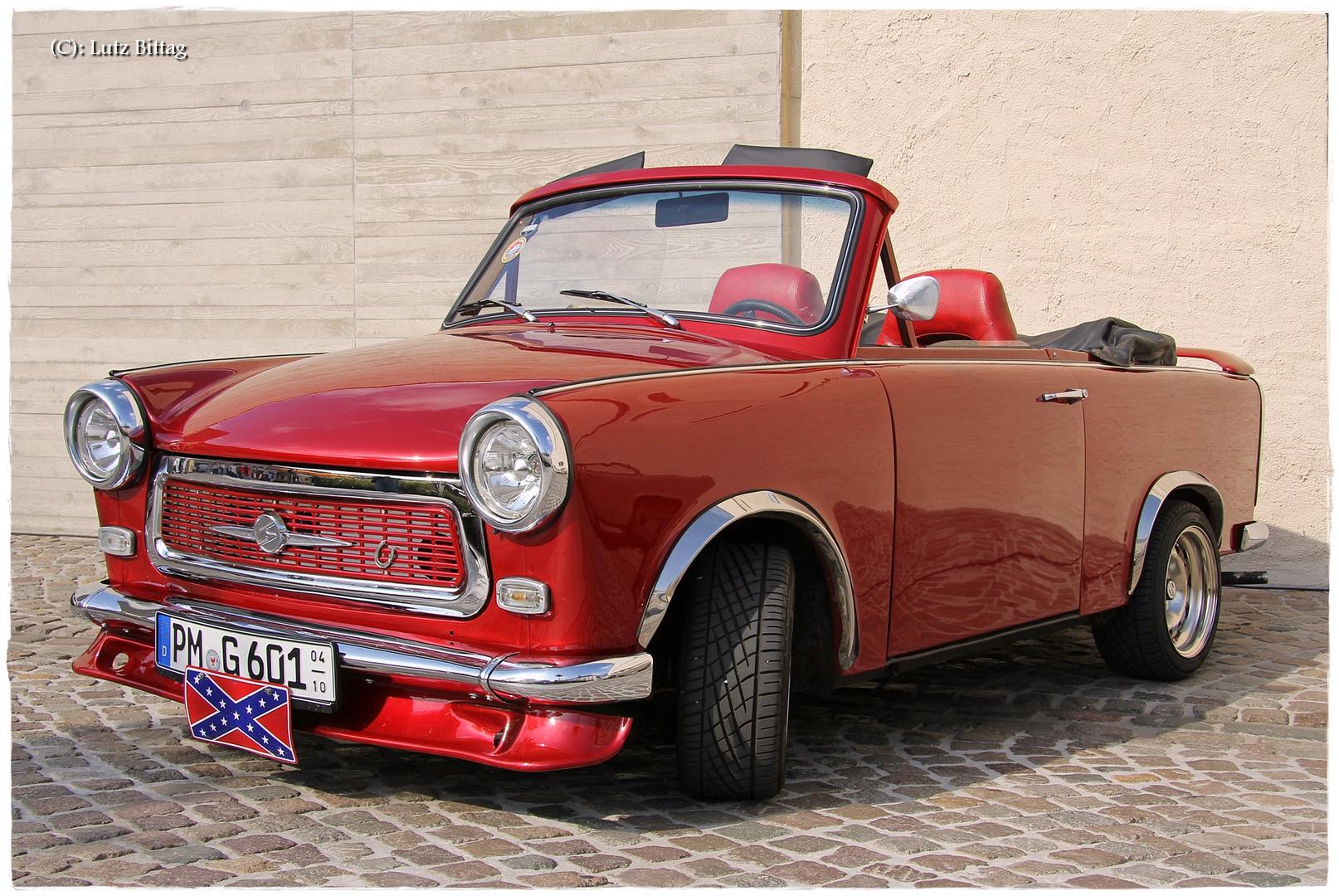 trabant 601 cabriolet foto bild rot trabi trabant. Black Bedroom Furniture Sets. Home Design Ideas
