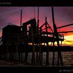 Trabucco di Vieste al tramonto