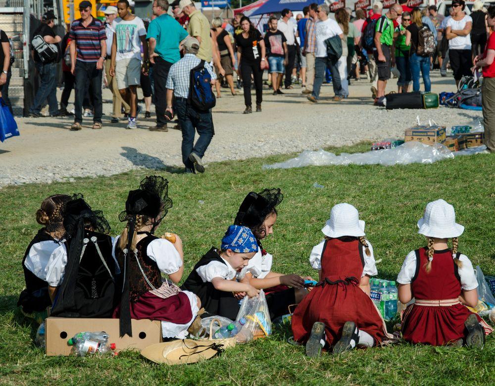 Trachtenmädchen am eidg. Schwingfest