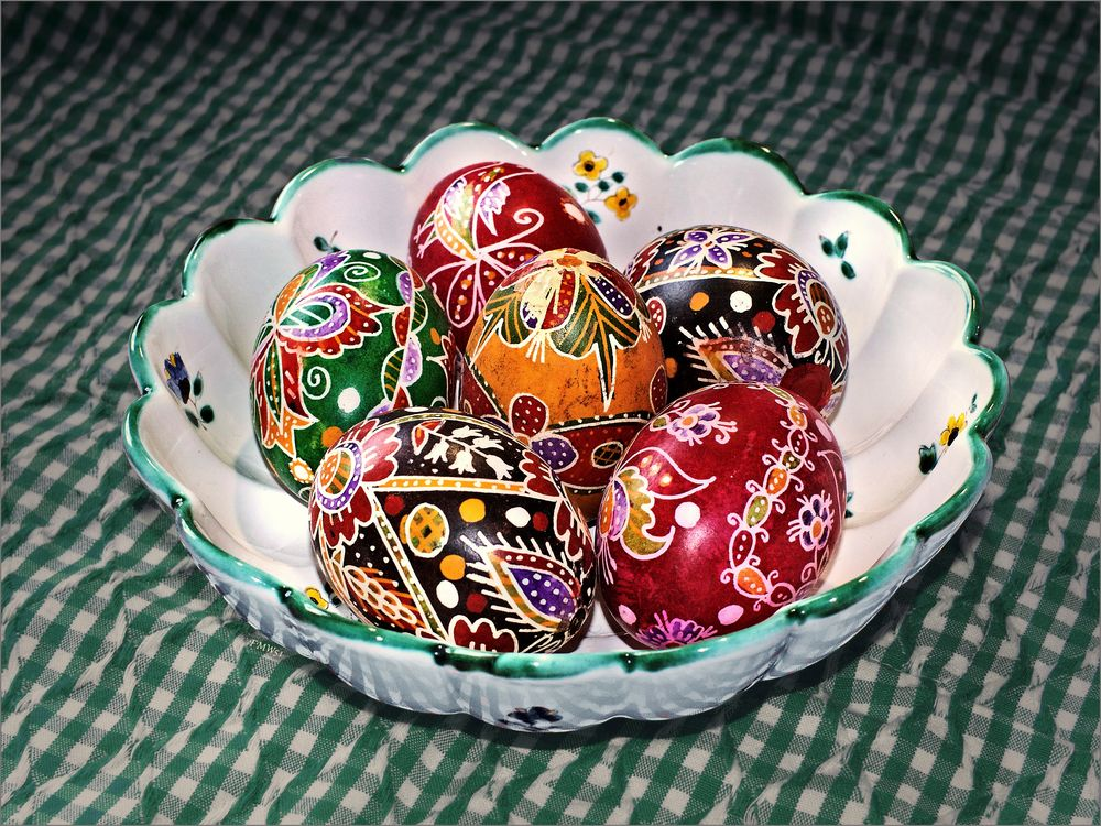 Traditional easter eggs from Hungary