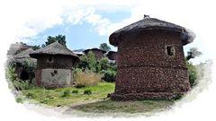 traditionelle Behausungen in Lalibela.......................
