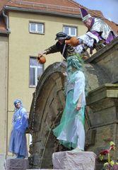 Traditionelle Eröffnung der Wasserkunst beim Gothardusfest in Gotha