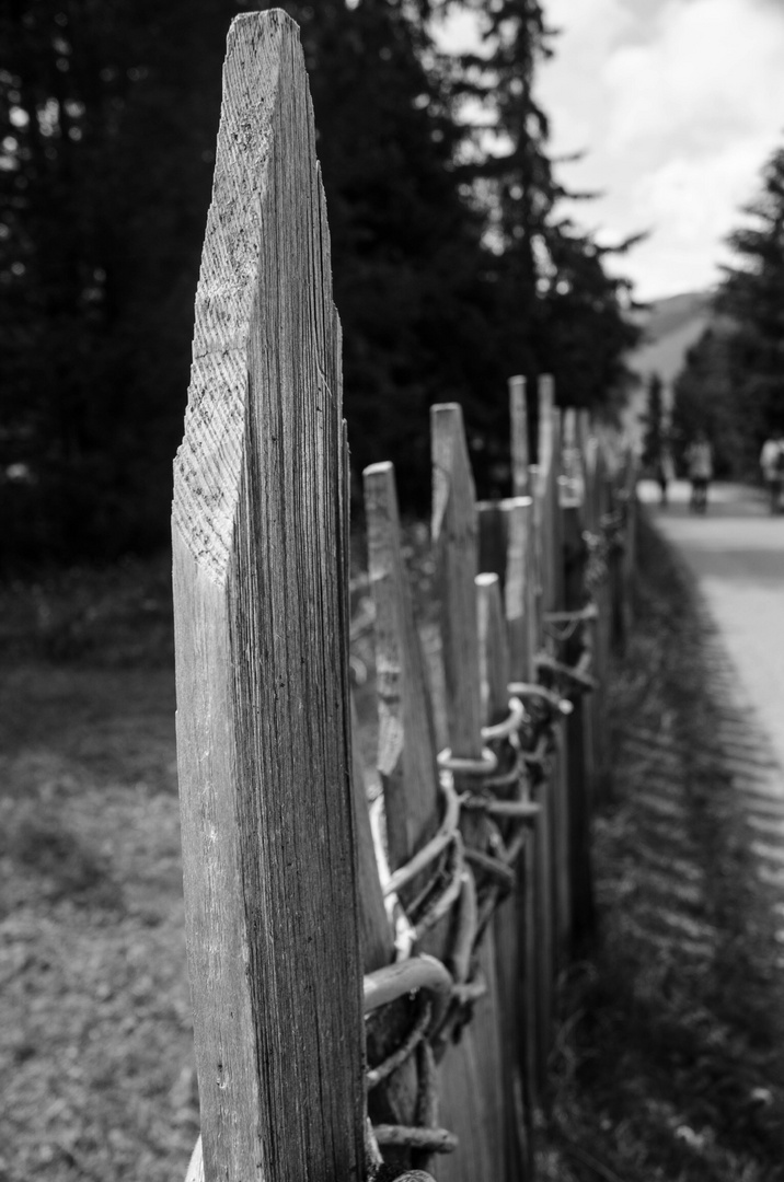 Traditioneller Zaun in Südtirol