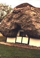 Traditionelles Tangdach auf Laeso