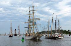 Traditionssegler zur Hanse Sail 2015