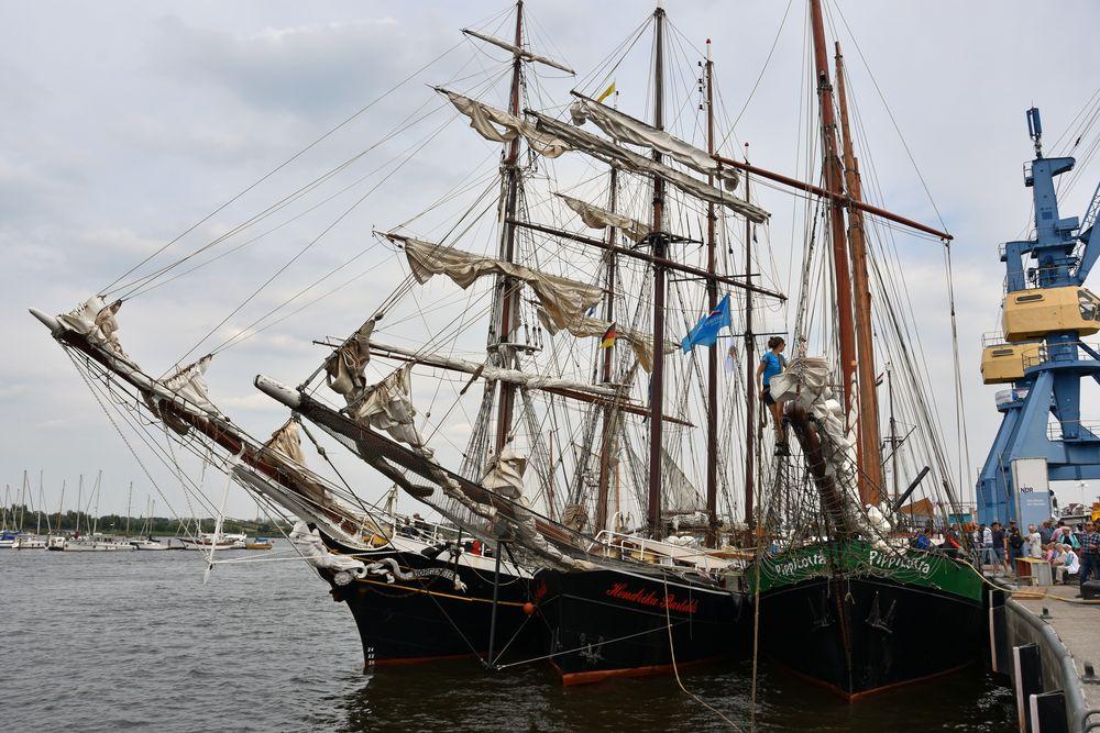 Traditionssegler zur Hanse Sail 2018 in Rostock