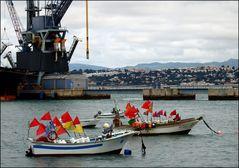 Trafaria, il porto di pesca.