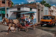 Traffic scene in Camagüey