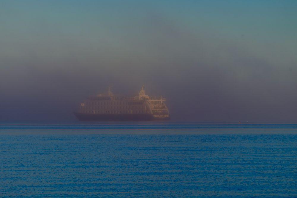 Tragado por la niebla