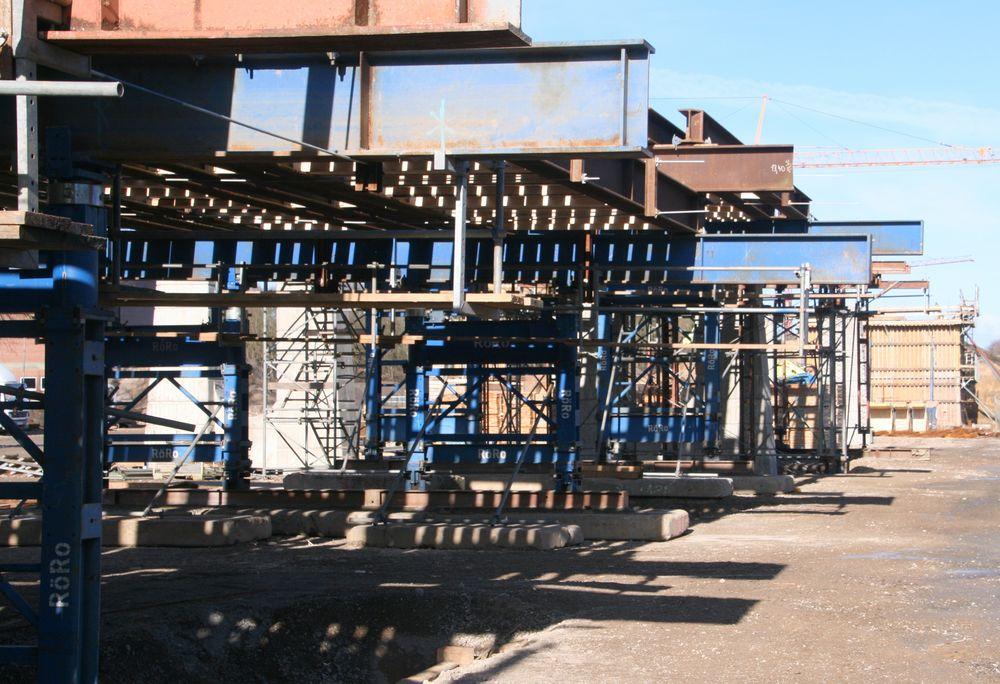 Traggerüst Brückenbau