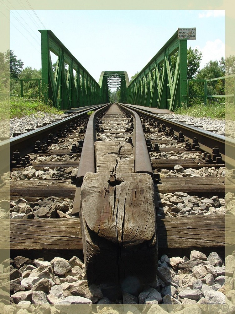 Trainbridge in Ljublijana