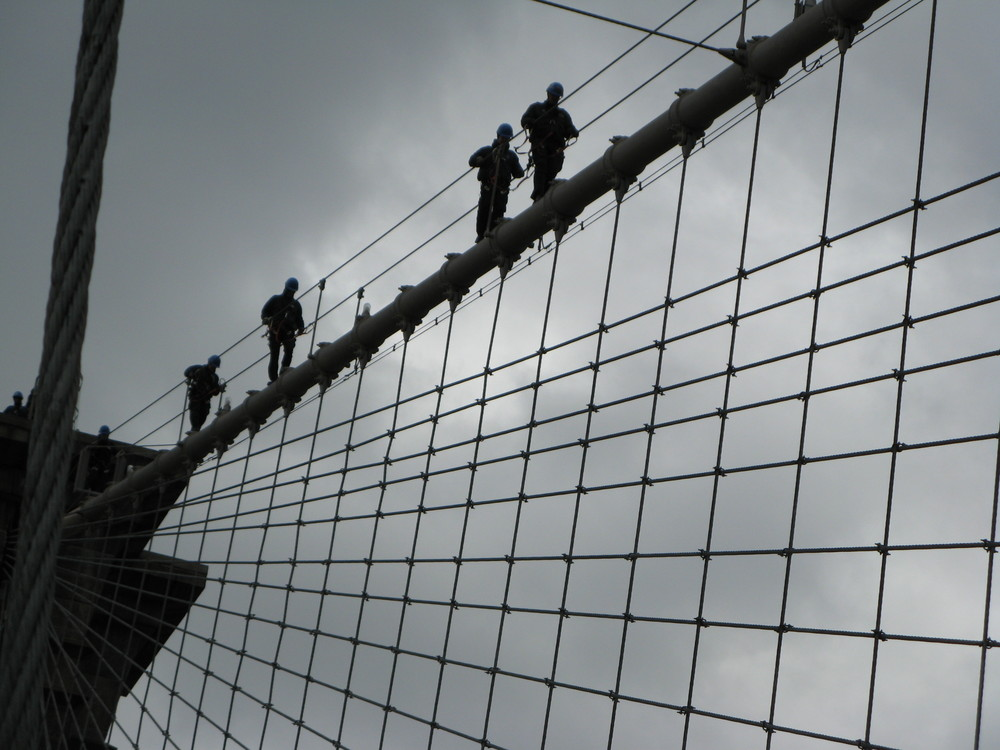 Training on the bridge