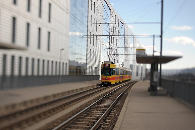 Tram in Basel - Jacob-Burckhart-Haus