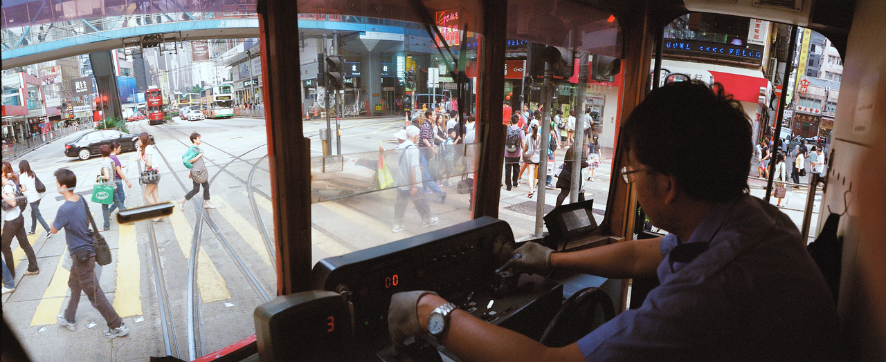 Tram ride in Causeway Bay