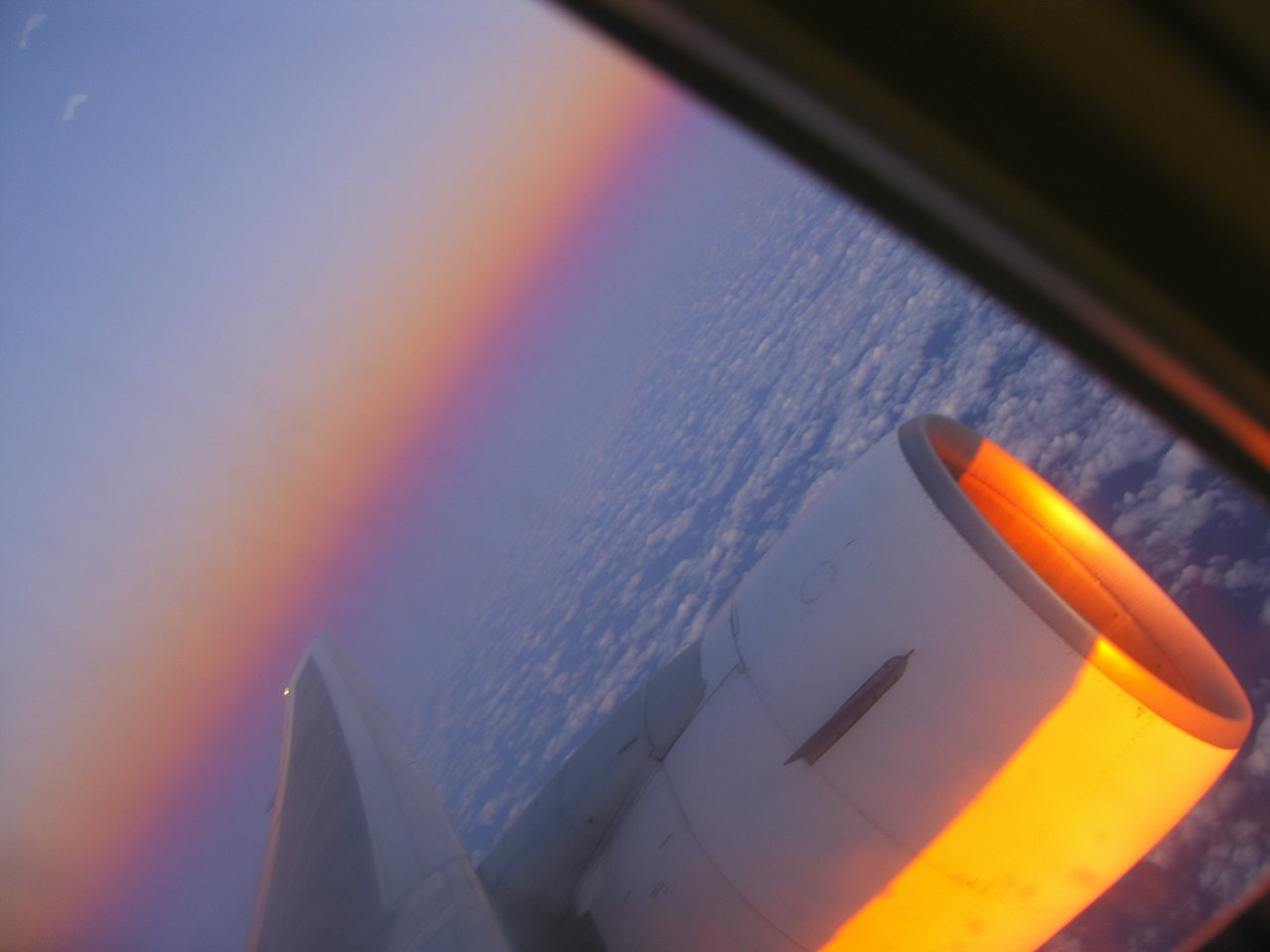 tramonto a 10000metri(rotta verso ai caraibi)