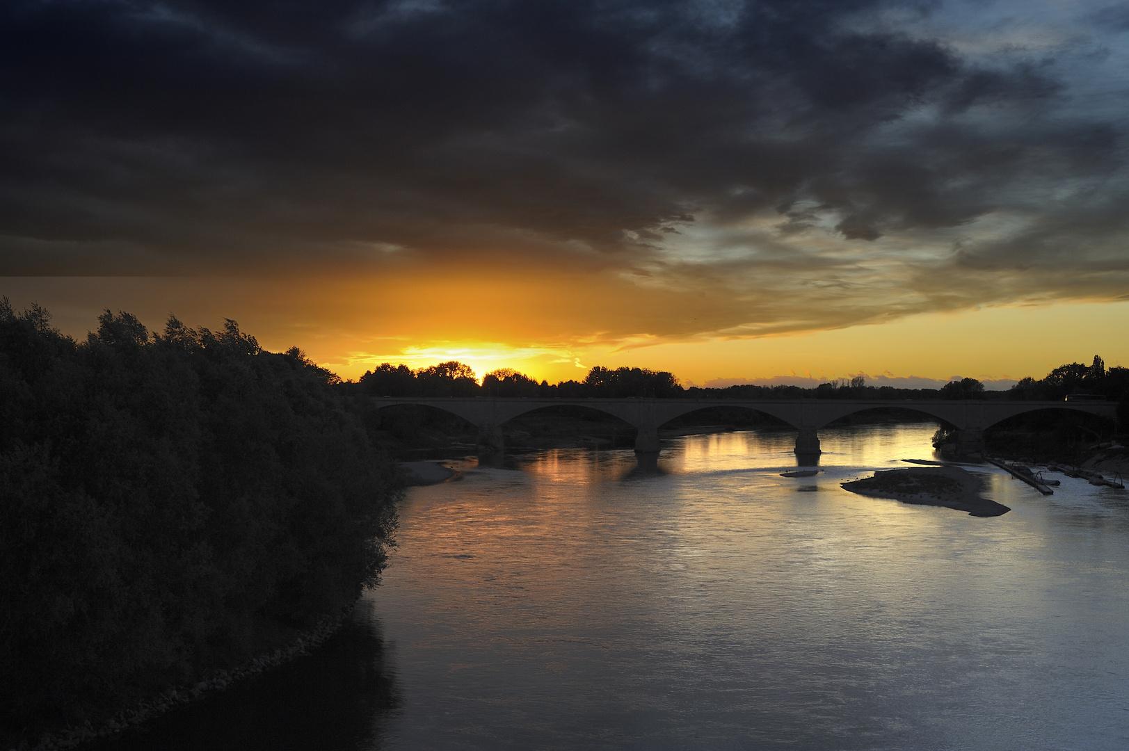 tramonto a Pavia