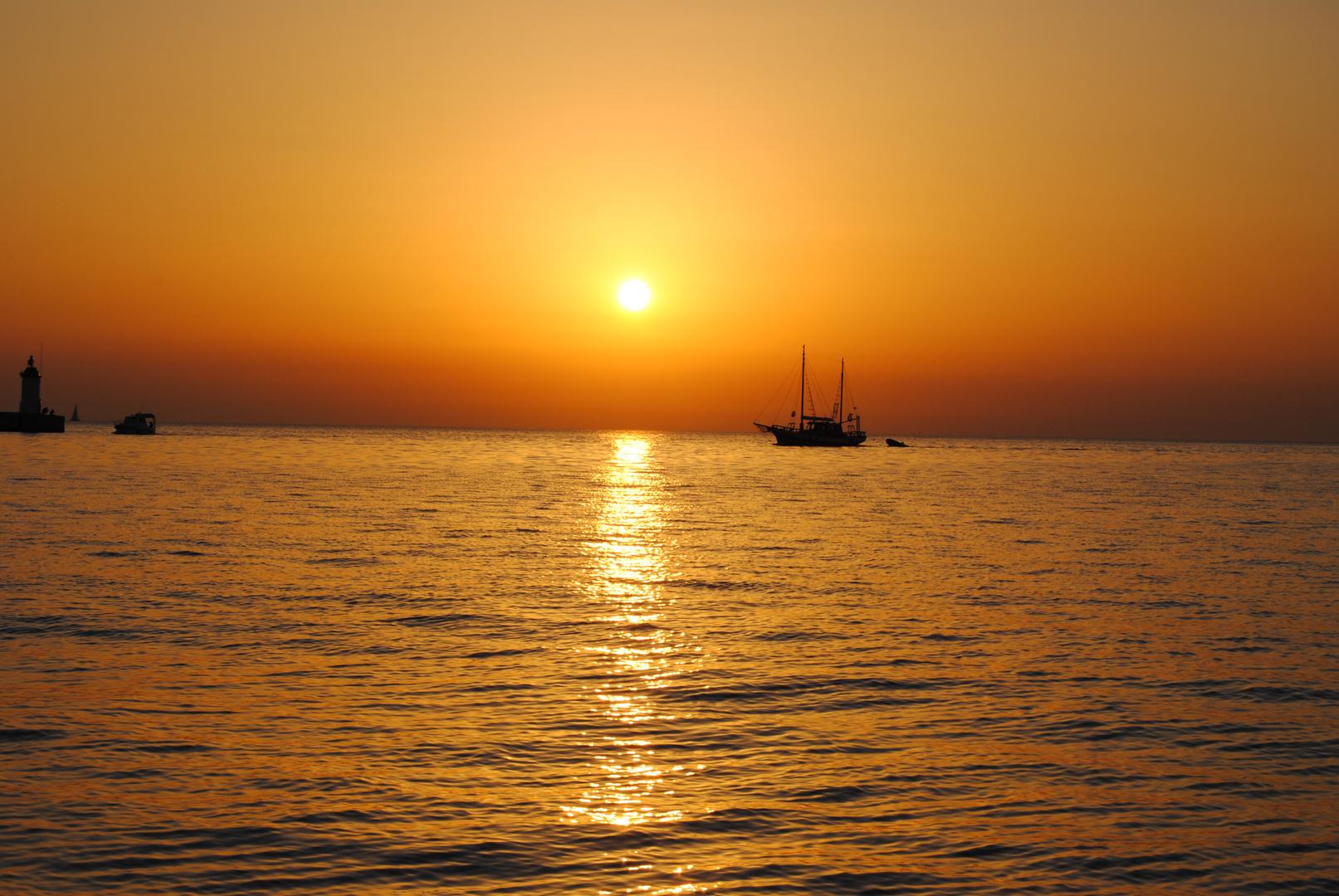 tramonto a Porec(Parenzo) Croazia