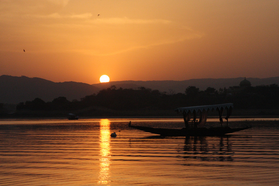 tramonto a Udaipur