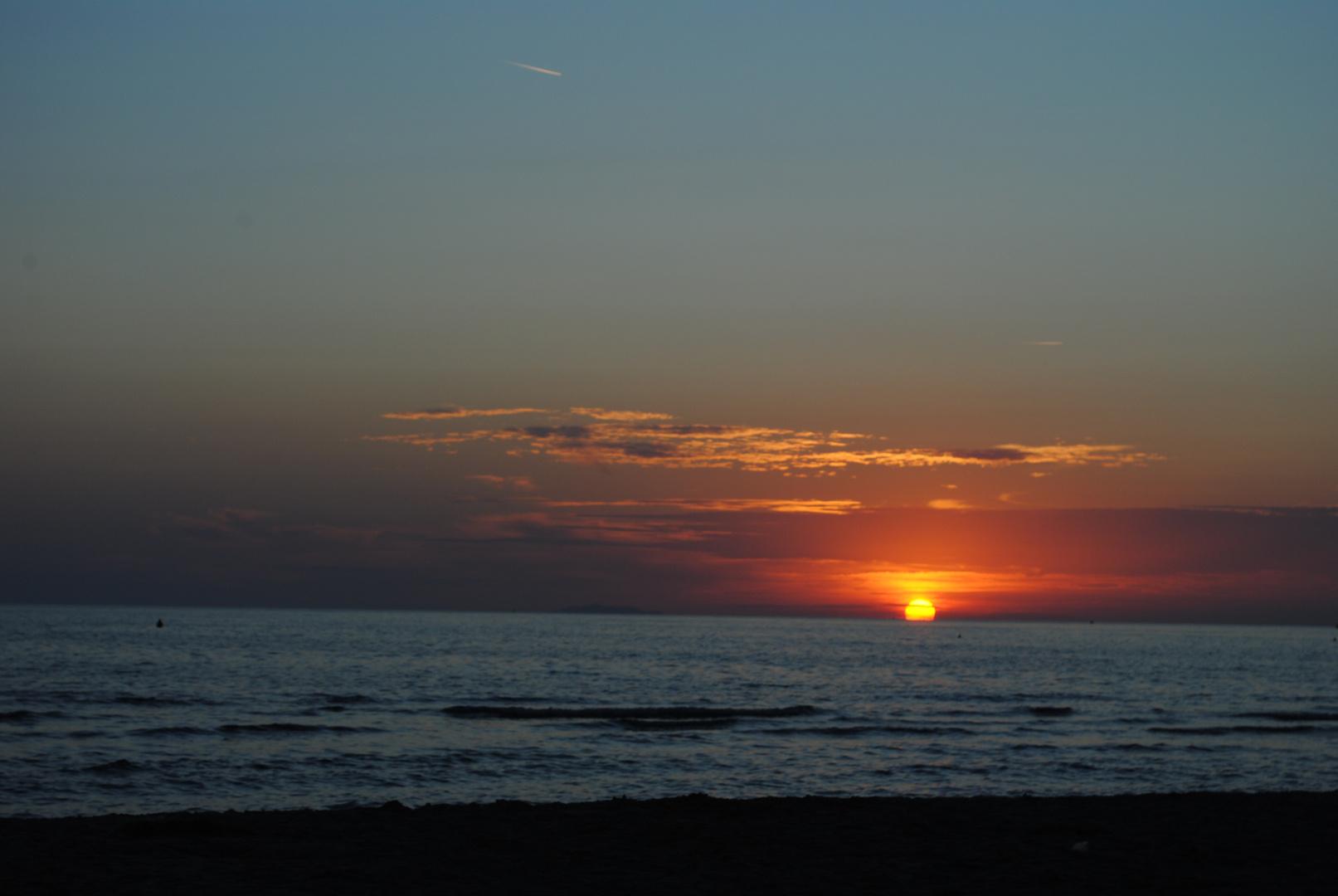 tramonto a  vada