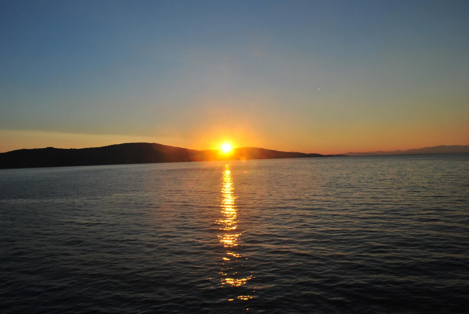 tramonto a vis