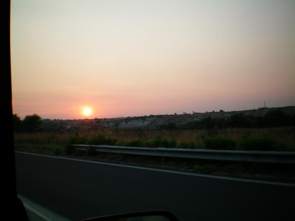 tramonto ad augusta