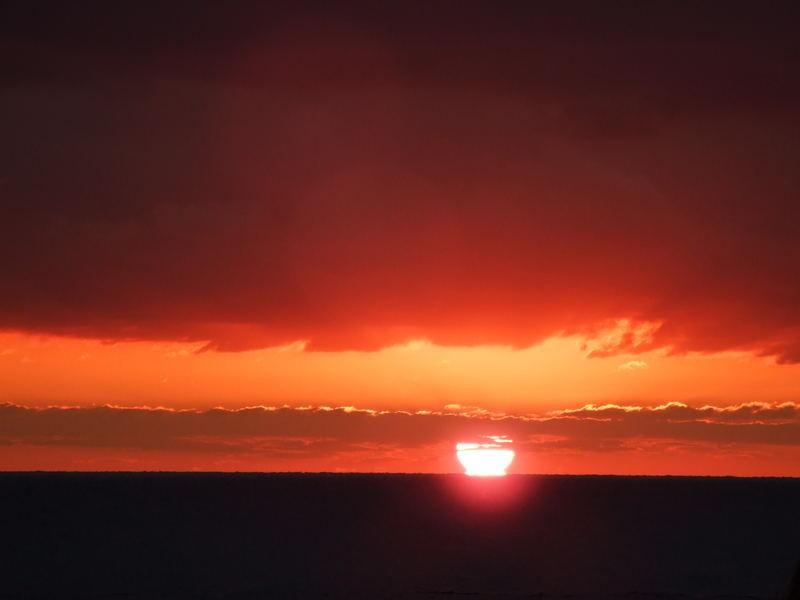 tramonto ad ostia