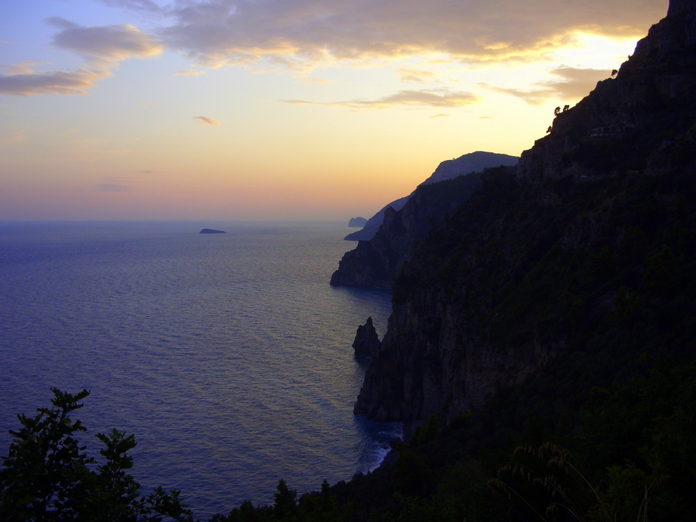 tramonto alla costa amalfitana (tordigliano chiosse)