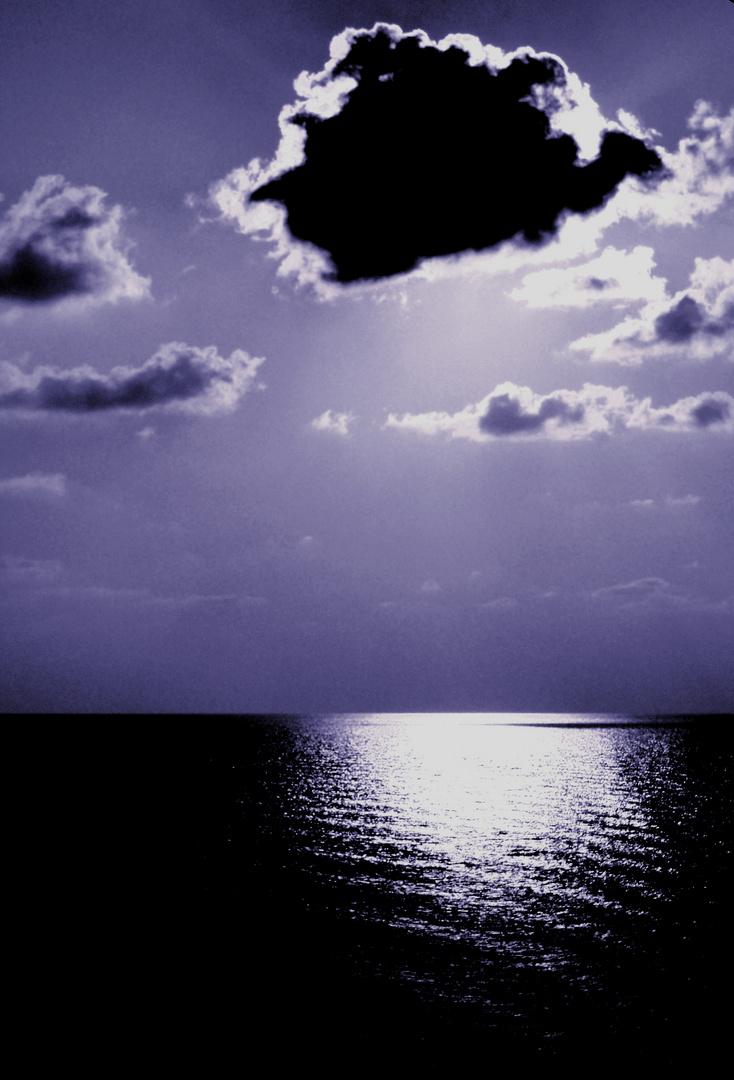 tramonto blu