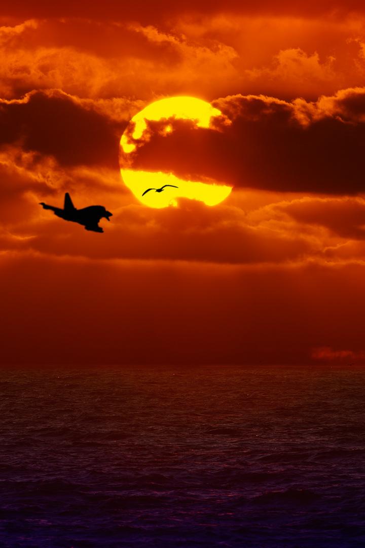 tramonto con incontro