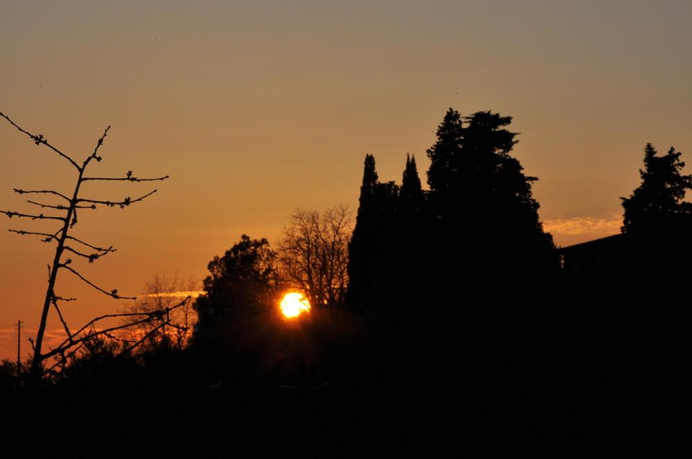 tramonto dal mio terrazzo