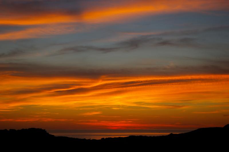 tramonto di fine Ottobre