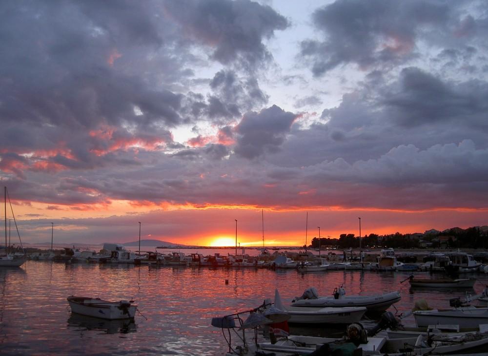 tramonto di novalja - croazia