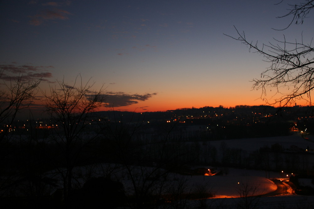 tramonto d'inverno