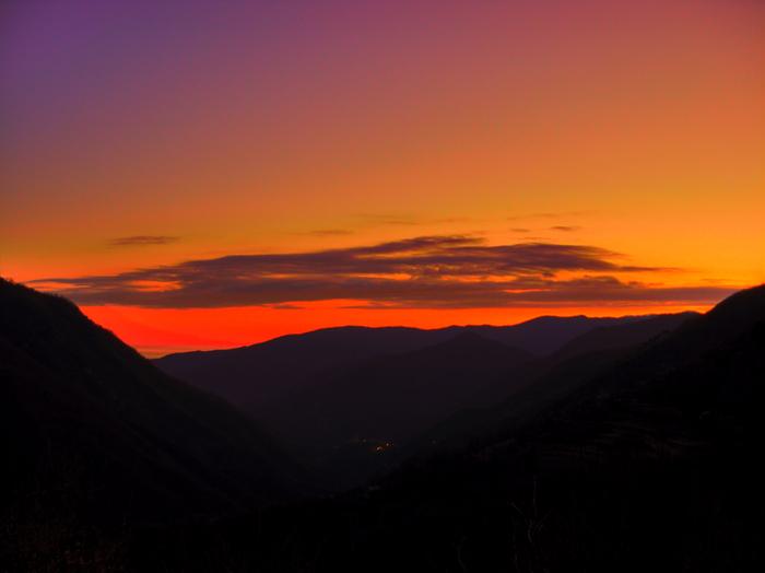tramonto d'ottobre