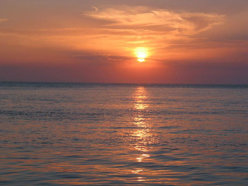 tramonto estivo
