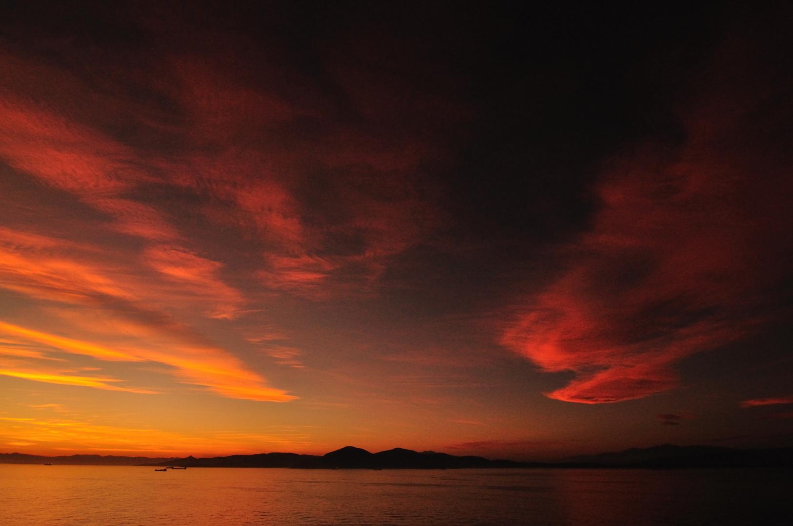 tramonto fuori atene