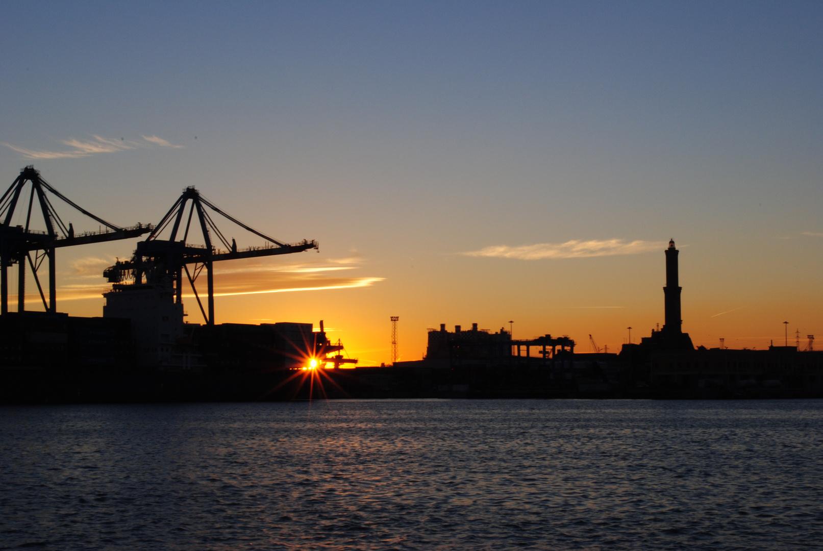 Tramonto Genova Porto Antico