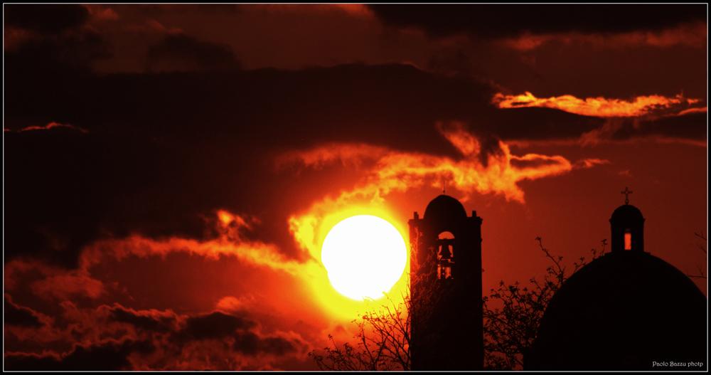 tramonto in città