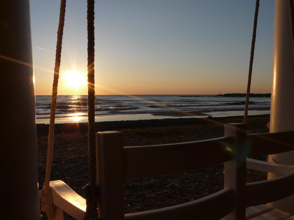 tramonto in solitudine