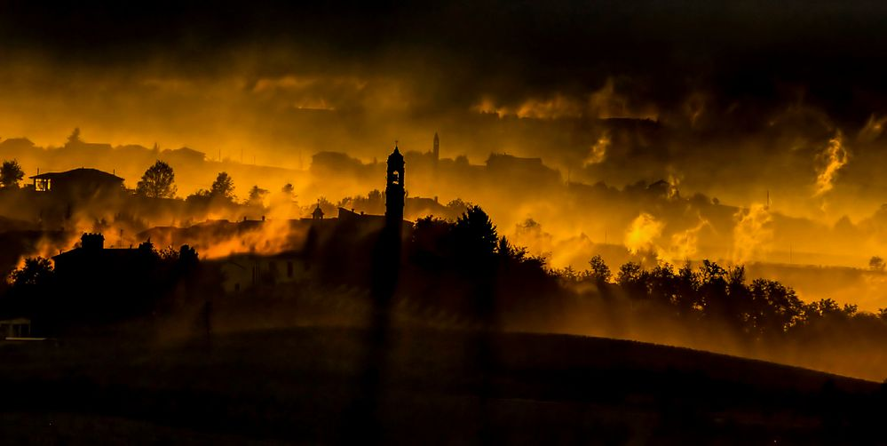 tramonto infernale