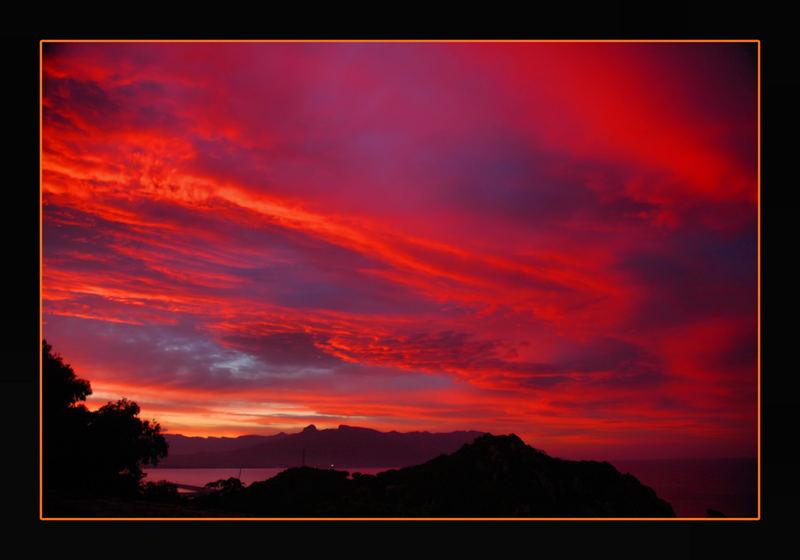 tramonto infuocato...