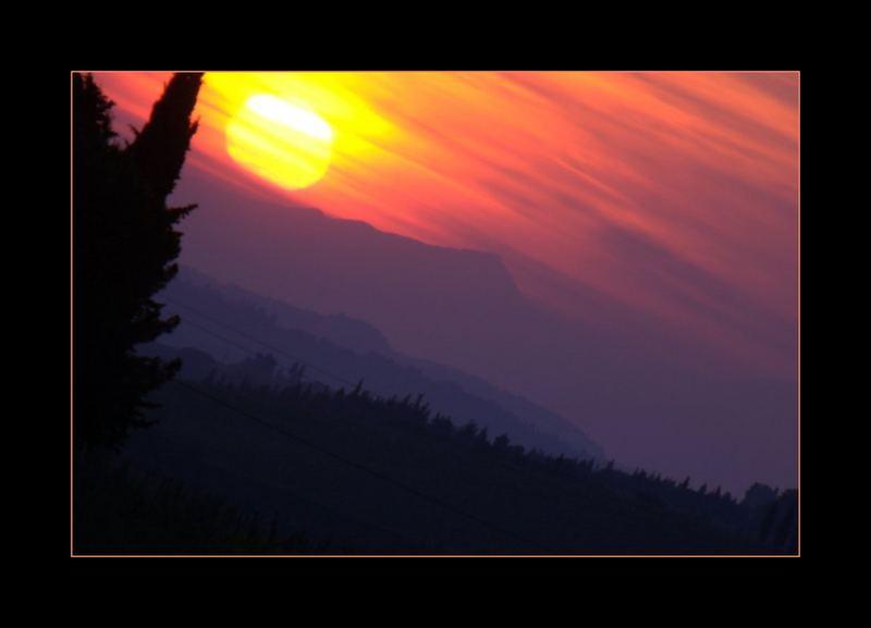 tramonto nel chianti