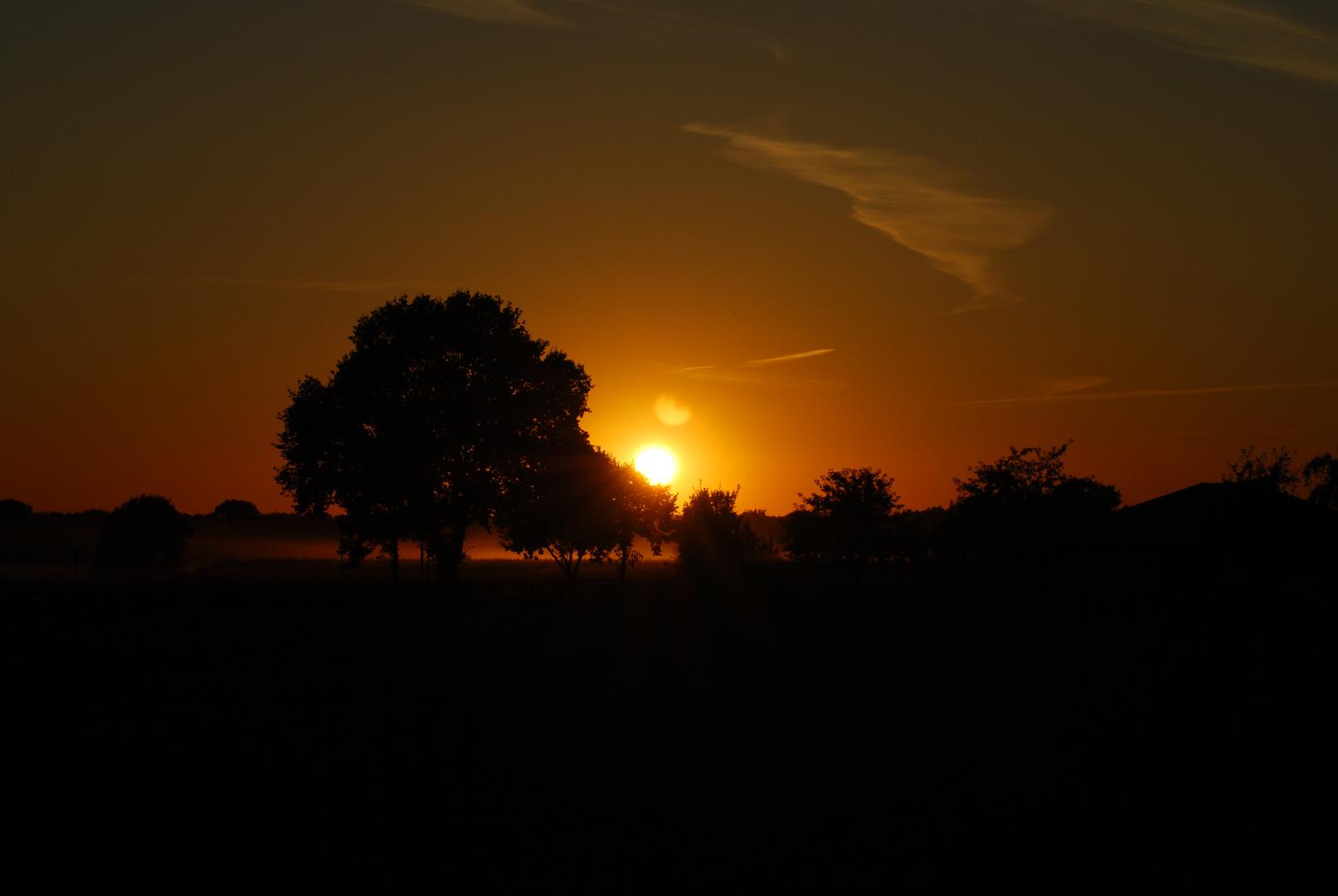 tramonto nel Wendland